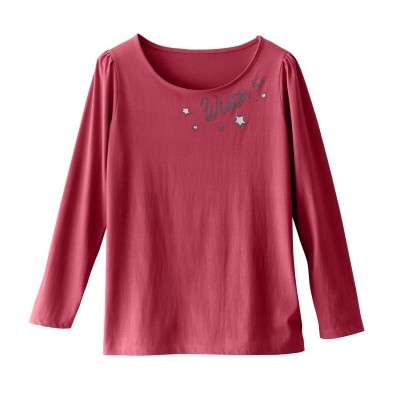 Pyžamové tričko s potiskem textu a dlouh