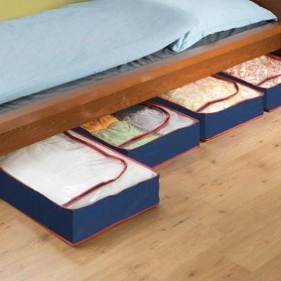 Sada 4 úložných boxů pod postel
