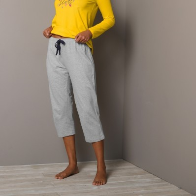 3/4 jednobarevné pyžamové kalhoty Estrella