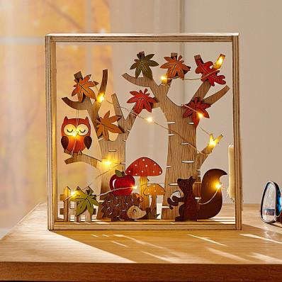LED drevená dekorácia