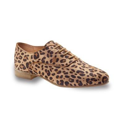 Boty derbies s leopardím vzorem