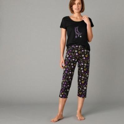3/4 pyžamové kalhoty s potiskem