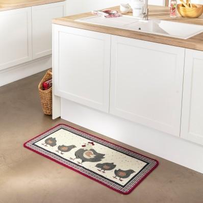 Kuchyňský kobereček slepice s kuřátky