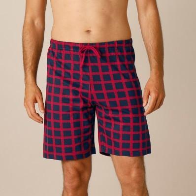 Pyžamové šortky s kostkovaným vzorem