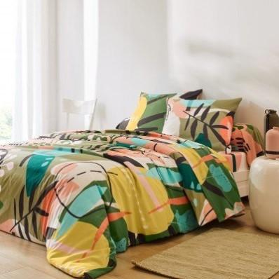 Posteľná bielizeň Aline s grafickým vzorom, bavlna