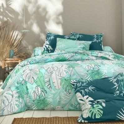 Povlečení Mahao s motivem palmových listů, bavlna