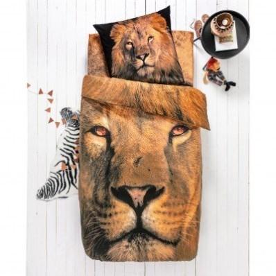 Detská posteľná bielizeň Leo, bavlna, potlač s levom