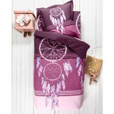 Detská posteľná bielizeň Plumes, bavlna, potlač lapačov snov