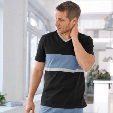 Pruhované pyžamové tričko s krátkými rukávy