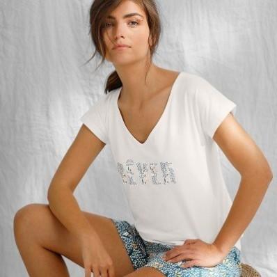 Tričko s krátkými rukávy a potiskem, bio bavlna