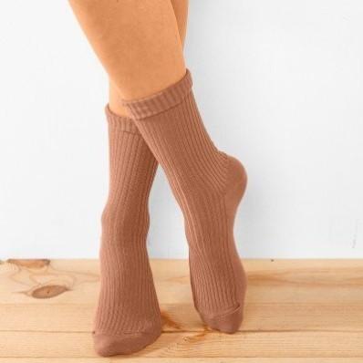 Sada 3 párů žebrovaných ponožek z bio bavlny