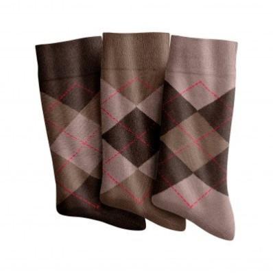 Sada 3 párů žakárových ponožek