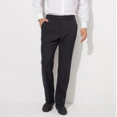Nohavice s vysokým pásom, bez záševkov, polyvlna