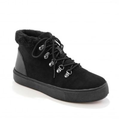 Topánky s hebkým lemom, čierne