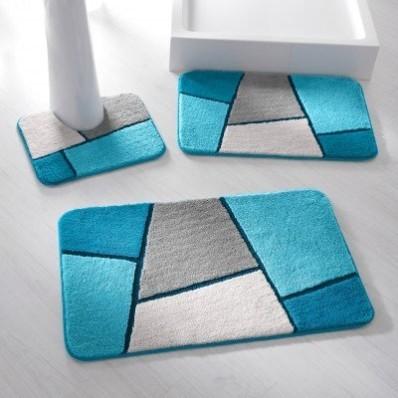 Koupelnová předložka s geometrickým vzorem