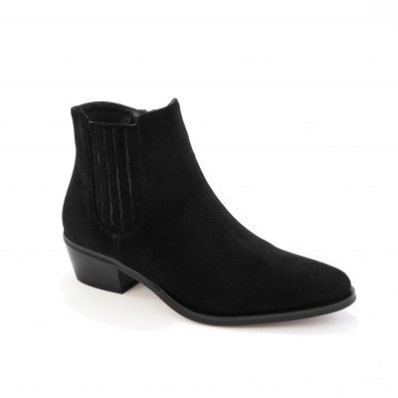 Vysoké topánky na podpätku, western štýl, čierne