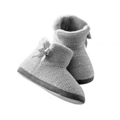 Domáce vysoké papuče vyšívané flitrami