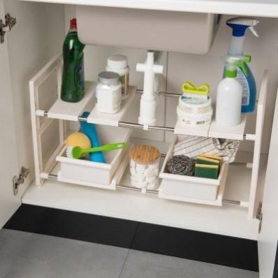 Nastavitelný organizér pod umyvadlo + zásuvky