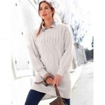 Tunikový pulóver s dlhými rukávmi