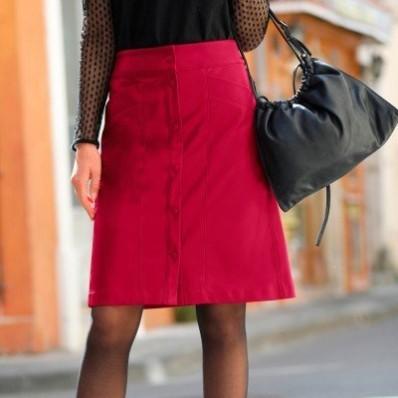 Koženková (1) sukně na knoflíky