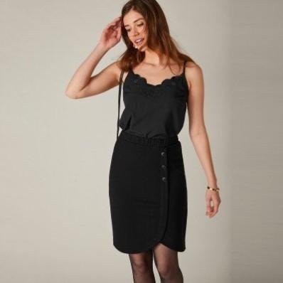 Jednobarevná sukně z úpletu Milano