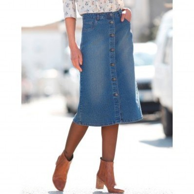 Džínová sukně na knoflíky
