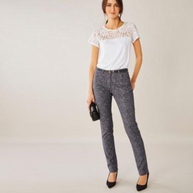 Rovné kalhoty s potiskem