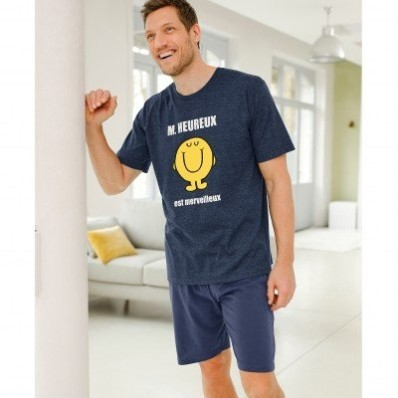 Pyžamo Monsieur Heureux s krátkými rukávy
