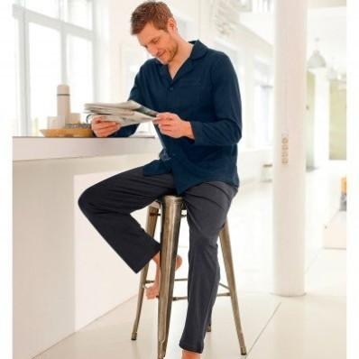 Pyžamové kalhoty, antracitový melír