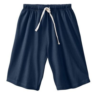 Jednobarevné pyžamové šortky, šedý melír