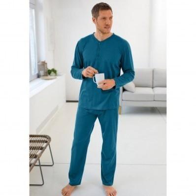 Pyžamo s tuniským výstřihem, jednobarevné
