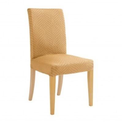 Žíhaný pružný potah na židli, s potiskem