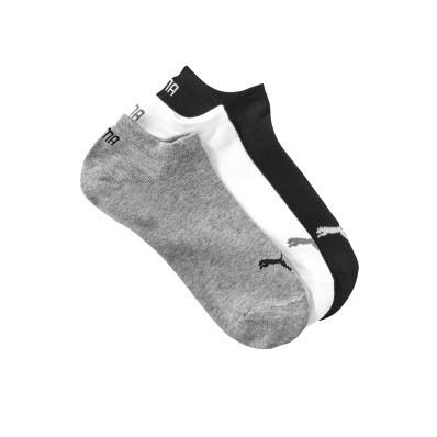 Kotníkové ponožky Sneaker Puma, sada 3 páry (šedí, bílé, černé)