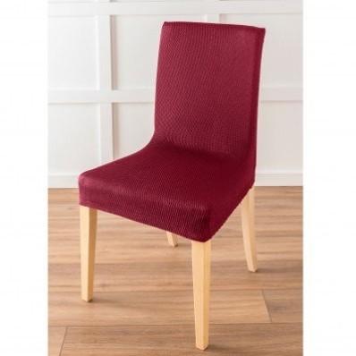 Jednobarevný potah na židli s optickým efektem, celopotah nebo na sedák