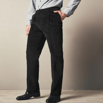 Manšestrové kalhoty, pružný pas