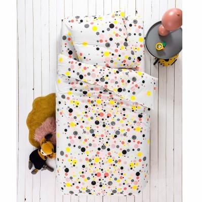 Detská posteľná bielizeň Pétillant, bavlna, potlač farebných bublín