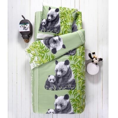 Detská posteľná bielizeň s potlačou Panda, polycoton
