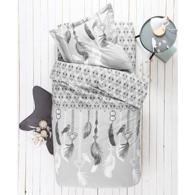 Detská posteľná bielizeň Angela, bavlna, potlač s pierkami