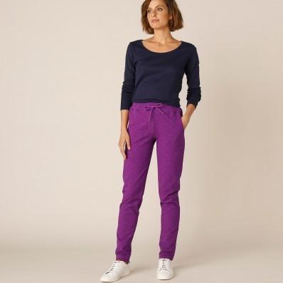 Meltonové kalhoty s potiskem