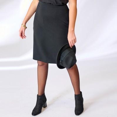 Rovná sukně z úpletu Milano