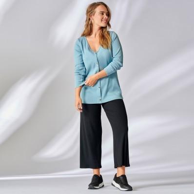 Široká kalhoty ve zkrácené délce