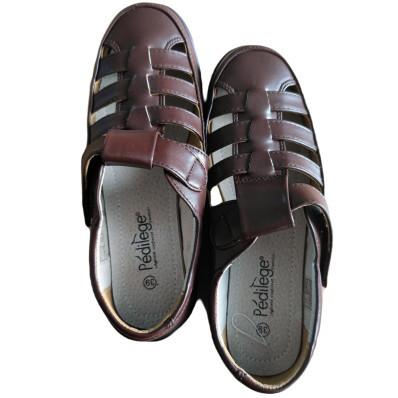 Páns.sandály hnědé 40