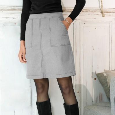 Dvoubarevná rozšířená sukně