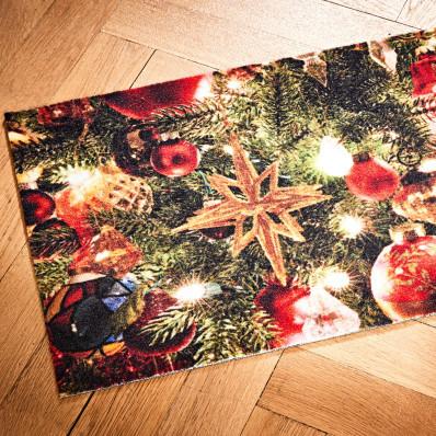 Karácsonyi lábtörlő