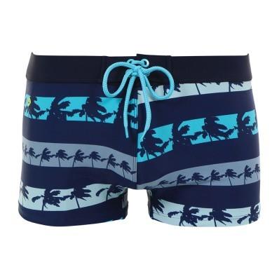 Plavkové boxerky s pruhmi a palmami