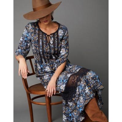 Dlouhé šaty s macramé