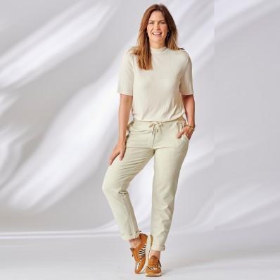 Meltonové bavlněné kalhoty