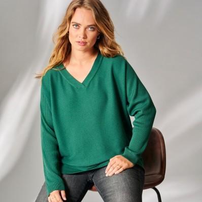 Žebrovaný pulovr