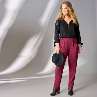 Úpletové kalhoty s potiskem