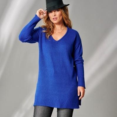 Jednobarevný tunikový pulovr